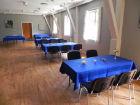 Opdækning til lille buffet i Store Festlokale | Hjallese Forsamlingshus