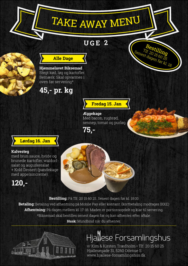 Take Away Menu - Uge 2