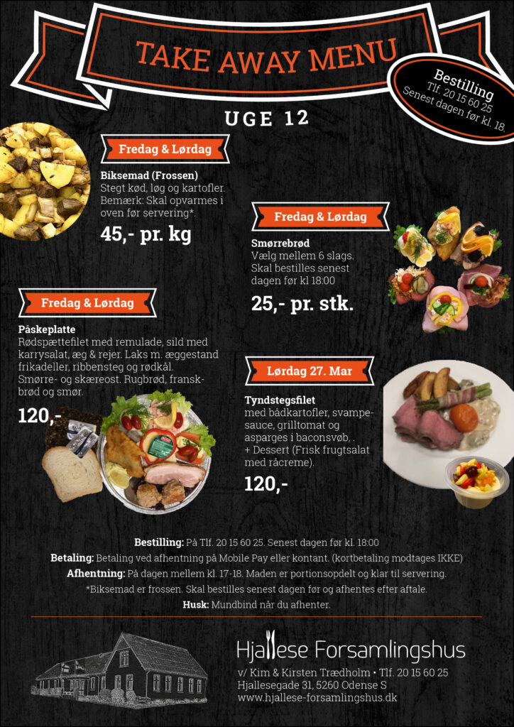 Take Away Menu - Uge 12